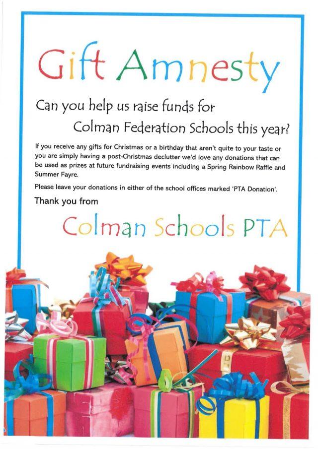 PTA Gift Amnesty Leaflet